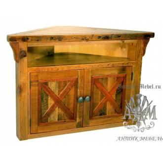 Тумба ТВ деревянная под старину из массива дуба №3