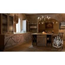 Деревянная кухня Ловитва из массива состаренной сосны