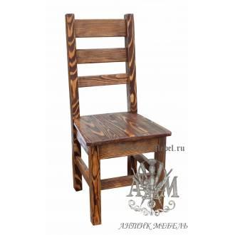 Деревянный стул под старину из массива сосны Карпаты