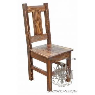 Деревянный стул под старину из массива сосны Карпаты 2