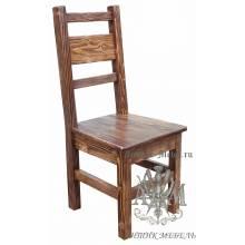 Деревянный стул под старину из массива сосны Карпаты 3