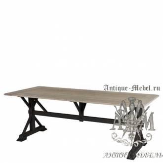Деревянный стол 220x100 обеденный из массива дуба Жерард
