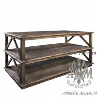 Деревянный стол для гостиной из массива дуба Марселон