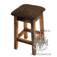 Табурет деревянный под старину из массива дуба №1
