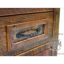 Тумба прикроватная деревянная под старину из массива дуба №7