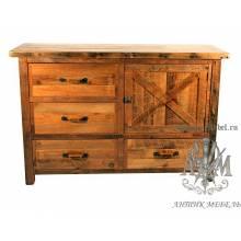 Комод деревянный под старину из массива дуба №4