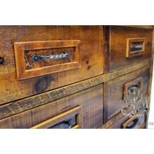 Комод деревянный под старину из массива дуба №8