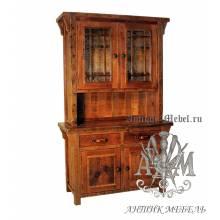 Шкаф деревянный под старину из массива дуба №4