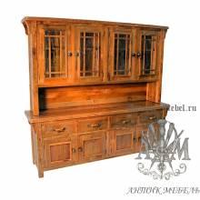 Шкаф деревянный под старину из массива дуба №5