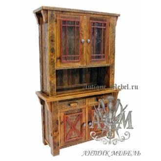 Шкаф деревянный под старину из массива дуба №8