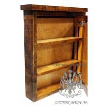 Шкаф навесной деревянный под старину из массива дуба №10