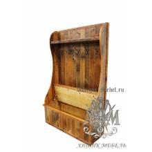 Шкаф для прихожей деревянный под старину из массива дуба №1