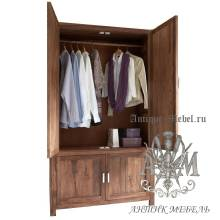 Шкаф деревянный для спальни из массива ясеня №1
