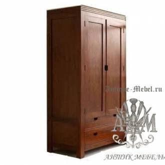 Шкаф деревянный для спальни из массива ясеня №2