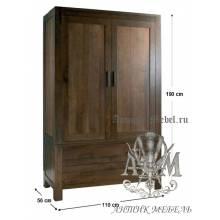 Шкаф деревянный для спальни из массива ясеня №4