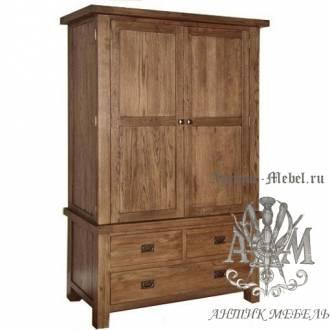Шкаф деревянный для спальни из массива ясеня №5