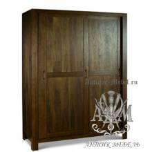 Шкаф деревянный для спальни из массива ясеня №6