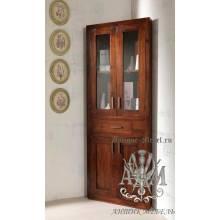 Шкаф деревянный угловой из массива ясеня №1