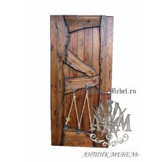 Дверь межкомнатная под старину из дерева массива сосны №2