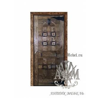 Дверь межкомнатная под старину из дерева массива сосны №5