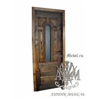 Дверь межкомнатная под старину из дерева массива сосны №8