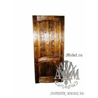 Дверь межкомнатная под старину из дерева массива сосны №10