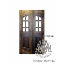 Дверь межкомнатная под старину из дерева массива сосны №11