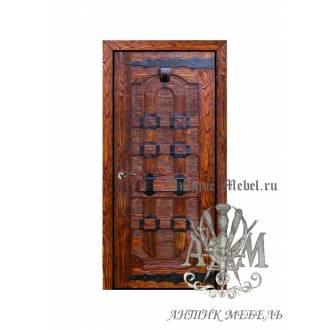 Дверь межкомнатная под старину из дерева массива сосны №3