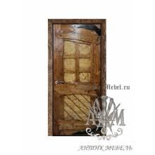 Дверь межкомнатная под старину из дерева массива сосны №4