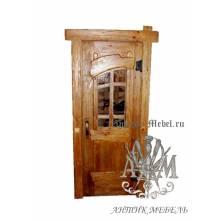 Дверь межкомнатная под старину из дерева массива сосны №6