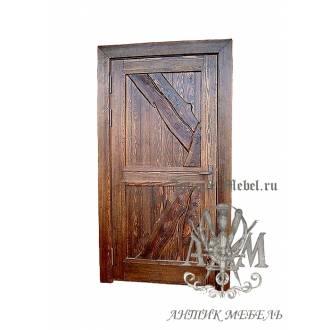 Дверь межкомнатная под старину из дерева массива сосны №9