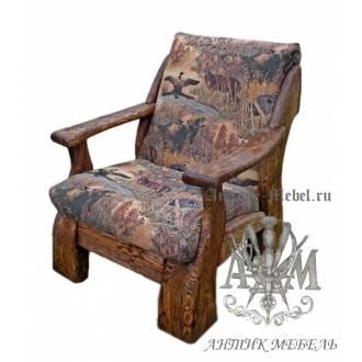 Мягкое кресло под старину из массива сосны №2