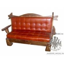 Мягкий диван под старину из массива сосны №1