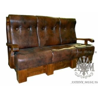 Мягкий диван под старину из массива сосны №2