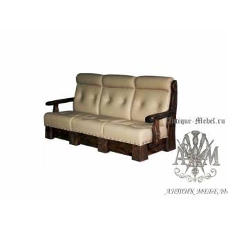Мягкий диван под старину из массива сосны №3