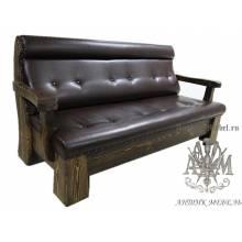 Мягкий диван под старину из массива сосны №4
