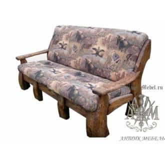 Мягкий диван под старину из массива сосны №5