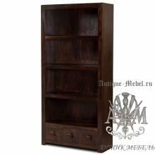 Книжный шкаф из массива дерева ясеня №1
