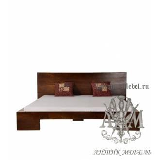 Кровать двуспальная из массива дерева ясеня №1