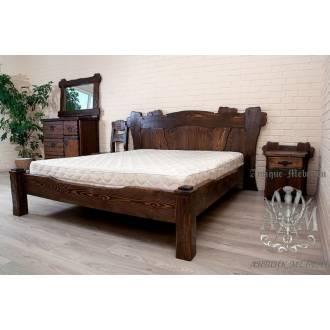 Кровать под старину из массива дерева сосны №1