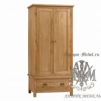 Шкаф для спальни из массива дерева натурального дуба №1