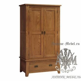 Шкаф для спальни из массива дерева натурального дуба №2