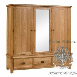 Шкаф для спальни из массива дерева натурального дуба №4