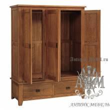 Шкаф для спальни из массива дерева натурального дуба №5