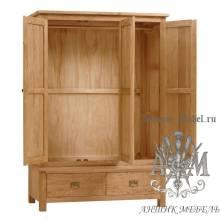 Шкаф для спальни из массива дерева натурального дуба №6