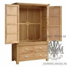 Шкаф для спальни из массива дерева натурального дуба №7