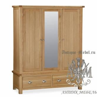 Шкаф для спальни из массива дерева натурального дуба №8
