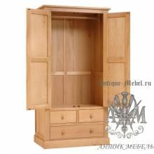 Шкаф для спальни из массива дерева натурального дуба №10