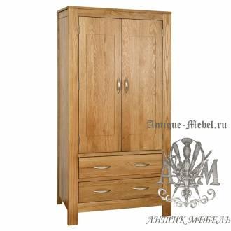 Шкаф для спальни из массива дерева натурального дуба №11