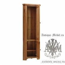 Шкаф-витрина из массива дерева натурального дуба №2